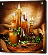 Different Salad Dressings Acrylic Print by Anna Omelchenko