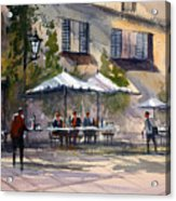 Dining Alfresco Acrylic Print by Ryan Radke