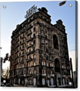 Divine Lorraine Hotel Acrylic Print by Bill Cannon