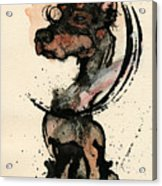 Doberman Acrylic Print by Mark M  Mellon