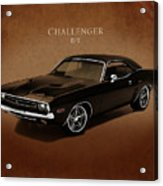 Dodge Challenger Rt Acrylic Print by Mark Rogan