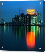Domino Sugars Baltimore Maryland 1984 Acrylic Print by Wayne Higgs