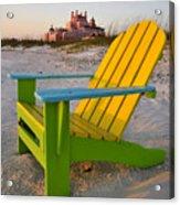 Don Cesar And Beach Chair Acrylic Print by David Lee Thompson