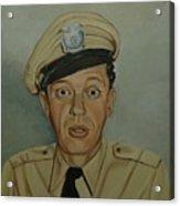 Don Knotts As Barney Fife Acrylic Print by Tresa Crain