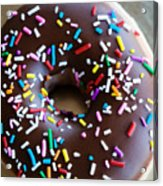 Donut With Sprinkles Acrylic Print by Kim Fearheiley