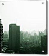Doomsday Shanghai Acrylic Print by Christine Till