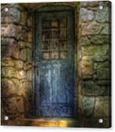 Door - A Rather Old Door Leading To Somewhere Acrylic Print by Mike Savad