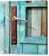 Door Handle Acrylic Print by Carlos Caetano