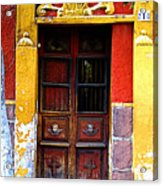 Door In The House Of Icons Acrylic Print by Mexicolors Art Photography