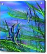 Dos Pescados En Salsa Verde Acrylic Print by Wally Boggus