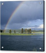 Double Rainbow At Alum Creek Acrylic Print by Sandra Bronstein