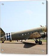 Douglas C47 Skytrain Military Aircraft 7d15788 Acrylic Print by Wingsdomain Art and Photography