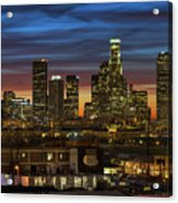 Downtown At Dusk Acrylic Print by Shabdro Photo