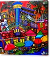 Downtown Attractions Acrylic Print by Patti Schermerhorn