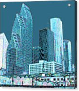 Downtown Houston Acrylic Print by Fred Jinkins