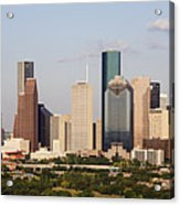 Downtown Houston Skyline Acrylic Print by Jeremy Woodhouse