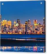 Downtown Vancouver From Spanish Banks Beach Acrylic Print by Alexis Birkill