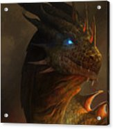 Dragon Portrait Acrylic Print by Steve Goad