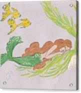 Dreaming Mermaid Acrylic Print by Rosalie Scanlon
