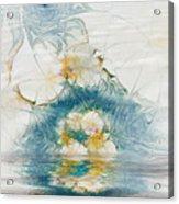 Dreamy World In Blue Acrylic Print by Deborah Benoit