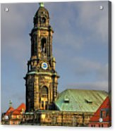 Dresden Kreuzkirche - Church Of The Holy Cross Acrylic Print by Christine Till