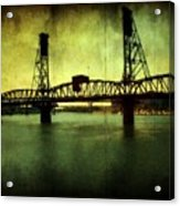 Driving Over The Bridge Acrylic Print by Cathie Tyler