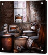 Dry Cleaner - Put You Through The Wringer  Acrylic Print by Mike Savad