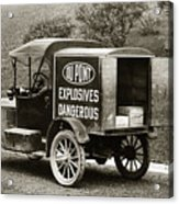 Du Pont Co. Explosives Truck Pennsylvania Coal Fields 1916 Acrylic Print by Arthur Miller