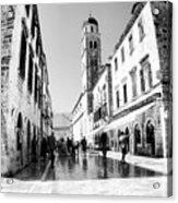 #dubrovnik #b&w #edit Acrylic Print by Alan Khalfin