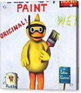 Duck Boy Paint Acrylic Print by Leah Saulnier The Painting Maniac
