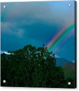 Dueling Rainbows Acrylic Print by DigiArt Diaries by Vicky B Fuller