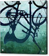 Dusk Shadows - Bicycle Art Acrylic Print by Linda Apple