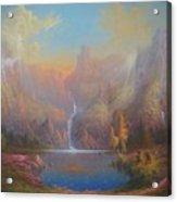 Dwarf Kingdom The Crown Of Durin Acrylic Print by Joe  Gilronan