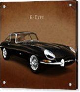 E Type Jaguar Acrylic Print by Mark Rogan