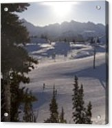 Early Morning Skiing Acrylic Print by Taylor S. Kennedy
