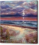 Early September Beach Acrylic Print by Peter R Davidson