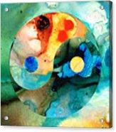 Earth Balance - Yin And Yang Art Acrylic Print by Sharon Cummings