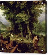 Earth Or The Earthly Paradise Acrylic Print by Jan the Elder Brueghel