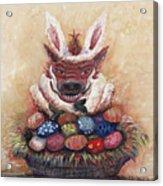 Easter Hog Acrylic Print by Nadine Rippelmeyer