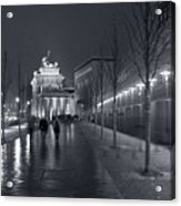 Ebertstrasse And The Brandenburg Gate Acrylic Print by Pierre Logwin