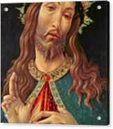 Ecce Homo Or The Redeemer Acrylic Print by Botticelli