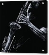 Eclectic Sax Acrylic Print by Richard Young