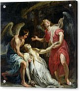 Ecstasy Of Mary Magdalene Acrylic Print by Peter Paul Rubens