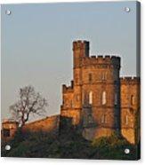 Edinburgh Scotland - Governors House And Obelisk Calton Hill Acrylic Print by Christine Till