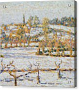 Effect Of Snow At Eragny Acrylic Print by Camille Pissarro