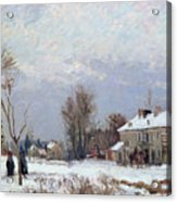 Effects Of Snow Acrylic Print by Camille Pissarro