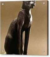 Egyptian Bronze Statuette Acrylic Print by Granger