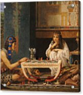Egyptian Chess Players Acrylic Print by Sir Lawrence Alma-Tadema