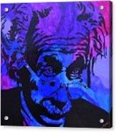 Einstein-all Things Relative Acrylic Print by Bill Manson
