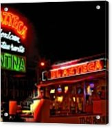 El Azteca Restaurant Acrylic Print by Corky Willis Atlanta Photography